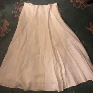 Off-white Linen Skirt